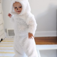 DIY White Wolf Pup Costume