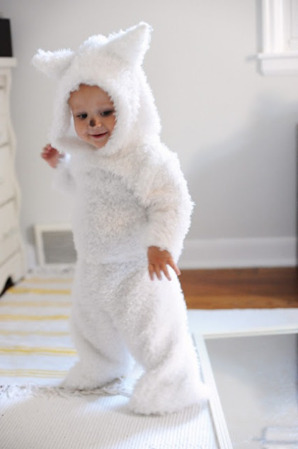 DIY White Wolf Pup Costume | The Well Crafted Home