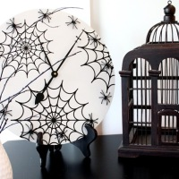 Spooky Spider Clock
