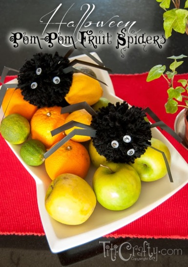Halloween Fruit Spiders