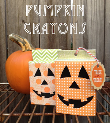 Pumpkin Covered Crayon Boxes